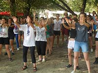 Heather Caton, found of My Health in Motion, teaching Tai Chi Classes at UNESCO Youth Academy in eastern Europe