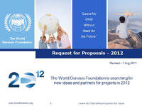 World Genesis Foundation Announces Invitation for Proposals For 2012 Youth Projects and Programs